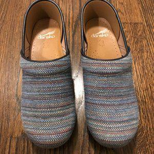 Dansko Professional Clogs, size 39, blue fabric